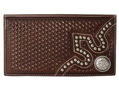 M&F Western Embossed Tab Rodeo Wallet (Brown) Wallet Handbags