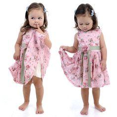 Mia Short Sleeve Dress Pink Floral