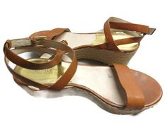 5f6e125f43b9d Michael By Michael Kors Sandals Brown Size 9 Jalita Charm Wedge Hemp Buckle