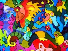 Phyllis Boger, an American artist who loves to have a pallet full of vibrant colours while painting on Batiks. Textile Design, Textile Art, Fabric Painting, Paint Fabric, Fabric Art, Silk Fabric, Mannequin Art, Textile Museum, Batik Art