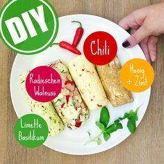 Vier leckere Varianten für selbst gemachte Grillbutter! Welche wird dein Liebling? Finde es heraus: http://eatsmarter.de/ernaehrung/news/grillbutter-selber-machen