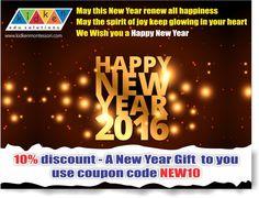 2016 New Year - 10% discount on kidkenmontessori products.