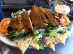 Special for the week of 10/22/12 at George's Greek Cafe on 5th and Flower: Spicy Chicken Salad.