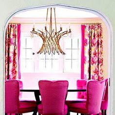 Hot pink furniture interior (17)