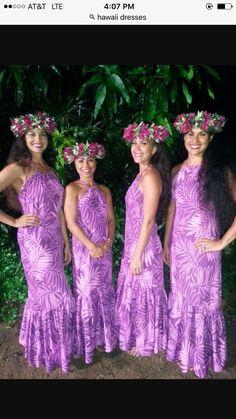 Hawaiian dresses More Hawaiian Party Outfit, Hawaiian Dresses, Polynesian Dresses, Samoan Dress, Tahitian Costumes, Hawaian Party, Hawaiian Fashion, Island Wear, Polynesian Culture