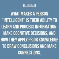 what makes a person intelligent