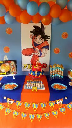 Mesa dulce dragon ball para cumpleaños y comuniones #decor #design #dragonball #niño #boy #chuches