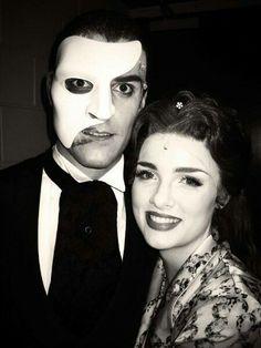 Ben Lewis and Anna O'Byrne backstage at Love Never Dies Australia