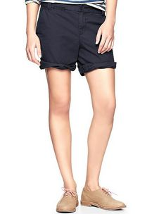 Jeans of The Week: Boyfriend Roll-Up Shorts in Navy by GAP
