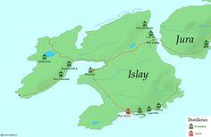 Islay scotch distilleries (notably Lagavulin and Laphroaig)