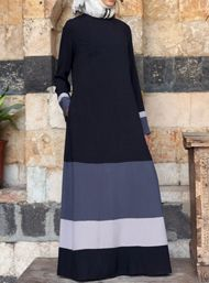 Color block abaya for Modern girls – Girls Hijab Style & Hijab Fashion Ideas Abaya Fashion, Fashion Wear, Fashion Dresses, Hijab Style, Hijab Chic, Muslim Dress, Hijab Dress, Moslem Fashion, Modele Hijab