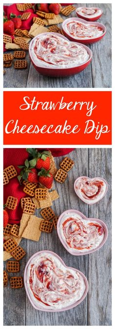 This Strawberry Cheesecake Dip comes together easily with only a handful of ingredients and no baking required. Cream cheese and Greek yogurt are blended together with strawberry jam, vanilla, and …