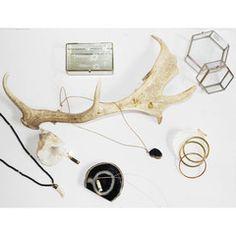 Bone Pendant Set in Brass on Sterling Silver Chain