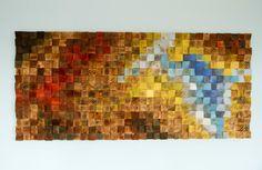Hout kunst aan de muur rustieke muur kunst The door ArtGlamourSligo