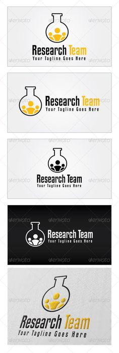 Research Team Logo Template — Photoshop PSD #treatment #innovation • Available here → https://graphicriver.net/item/research-team-logo-template/5270536?ref=pxcr