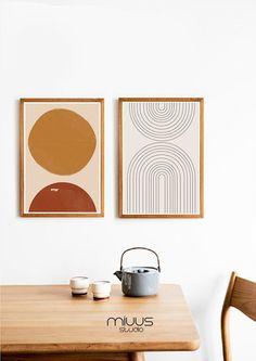 Art Mural Orange, Deco Orange, Initial Wall Art, Art Minimaliste, Modern Art Prints, Abstract Print, Burnt Orange, Oeuvre D'art, Printable Wall Art