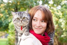 Lady and her cat by TalyaPhoto on @creativemarket