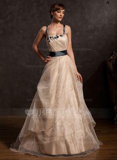 Prom Dresses - $149.99 - A-Line/Princess Floor-Length Taffeta Organza Prom Dress With Ruffle Lace Sash Bow(s) (018015055) http://jjshouse.com/A-Line-Princess-Floor-Length-Taffeta-Organza-Prom-Dress-With-Ruffle-Lace-Sash-Bow-S-018015055-g15055