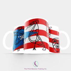 Taza Puerto Rican Flag - Taino petroglyphs Mug