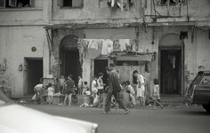 Street Scene with Children in Singapore - 1966