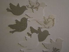 Christmas Paper Birds 100 pc   Table Decorations    Confetti      Wedding     Shower. $3.99, via Etsy.