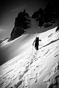 Ski la parte difícil