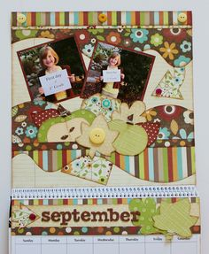 Kiwi Lane's September Calendar.  Designed by Debbie Budge