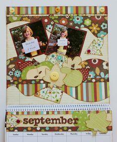 Kiwi Lane's September Calendar.  Designed by Debbie Budge