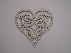 Heart Wood Shape, Laser Cut Filigree, Wall Art, Wreaths, Home Decor, Christmas