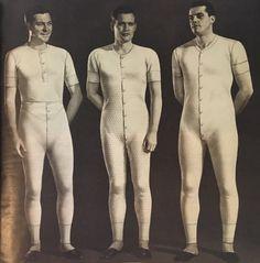 1940s mens long union suits
