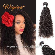 wholesale price grey kinky curly human hair weaving in india