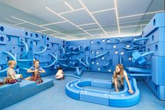 NUBO by frost*collective + paldesign promotes the sense of pure play Indoor Play Centre, Kids Play Spaces, Play Areas, Indoor Playground, Children Playground, Playground Ideas, Kids Zone, Play Houses, Kids Playing