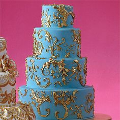 gold guilded wedding cake | Americas Most Beautiful Cakes : Wedding Cakes Gallery