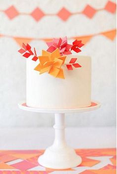 Orange Wedding Inspiration | Cake | LFF Designs | www.facebook.com/LFFdesigns