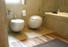 13) Pavimenti in legno massello di noce nazionale abbinato alla resina. Realizzazioni residenziali | Bovo Design
