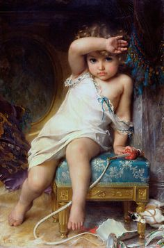 Emile Munier (1840-1895)-the broken vase