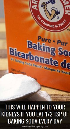 THIS Will Happen to Your Kidneys if You Eat tsp of Baking Soda Every Day - Asthma Treatment Herbal Remedies, Health Remedies, Health Guru, Health And Wellness, Health Trends, Health Goals, Health Matters, Natural Sleep Remedies