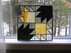 Stained Glass Panel  Bear Tracks   Quilt by CalmWatersStudio, $80.00