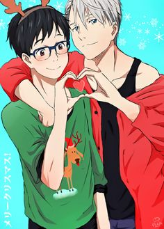 "danii-mon: ""Merry Christmas~ & Happy Birthday Victor ♥ """