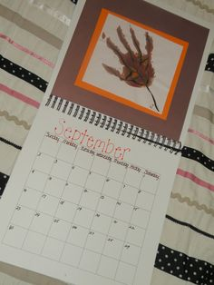 Handprint Calendar - another idea for fall months