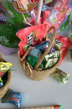 Create an easter basket filled with real grass in 5 days easter diy mini easter baskets negle Images