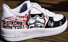 STAR WARS PAiNTED SHOES custom kicks sneakers graffiti hand vans converse nike mens womens kids adidas customised costume art new rogue one