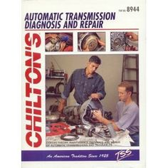 Nama : Automatic Transmission Diagnosis and Repair (Total Service Series) Merk : - Tipe : - Status : Siap Berat Kirim : 1 kg Total Car Care is the most complete, step-by-step automotive repair manual you'll ever use. All repair procedures are supported by detailed specifications, exploded views, and photographs. From the simplest repair procedure to the most complex, trust Chilton's Total Car Care to give you everything you need to do the job.