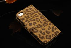 Brown iPhone 5/5S Leopard Leather Wallet Case at mobilephonecases.co.nz #MobilePhoneCases #CellPhoneCases #iPhoneCases #iPadCases #SamsungGalaxyCases #iPhone5 #iPhone5S