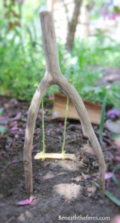 Fairy Garden ideas! The marble snails! The cork mushroom chairs!!