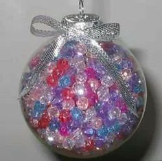Beads in ball ornaments
