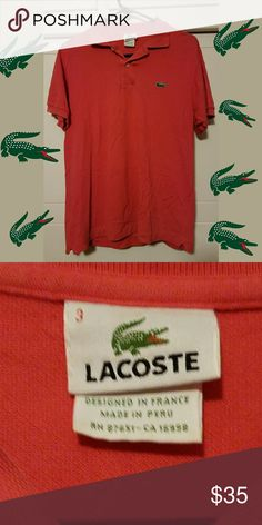 21f46831 Lacoste Shirt Men's size, lightly used. Color is still vibrant. Lacoste  Shirts Polos