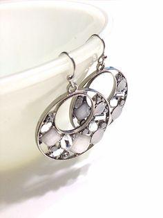 Wedding Earrings  Silver Earrings  Wire Wrapped  Wire by Barysto