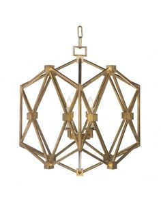 Chan Geo Collection Look # 8 Chandelier, Gold