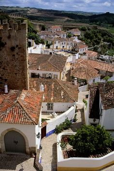 Obidos Rooftops, Portugal